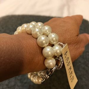 Faux pearl bracelet can convert to necklace